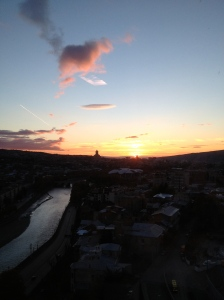 Dawn over Tbilisi, Georgia