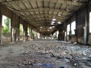 Soviet concrete era warehouse ripe for refurbishment